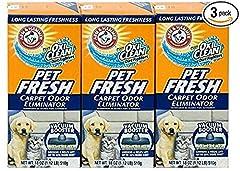 Arm & Hammer Pet Fresh Carpet Odor Eliminator Plus Oxi Clean Dirt Fighters (Pack of 3)