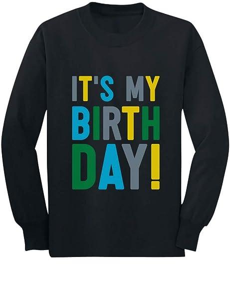 ed63c08e Amazon.com: Tstars - It's My Birthday Boy Girl Party Outfit Toddler/Kids  Long Sleeve T-Shirt: Clothing