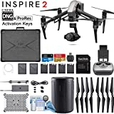DJI INSPIRE 2 Quadcopter Drone with Zenmuse X4S 3-Axis Gimbal/Camera - CinemaDNG & Apple Pro Res License Keys - Starters Bundle