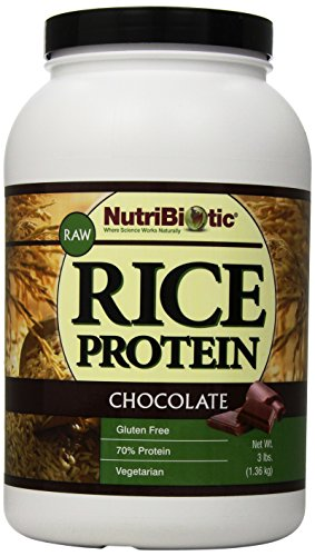 (Nutribiotic Rice Protein, Chocolate, 3 Pounds)