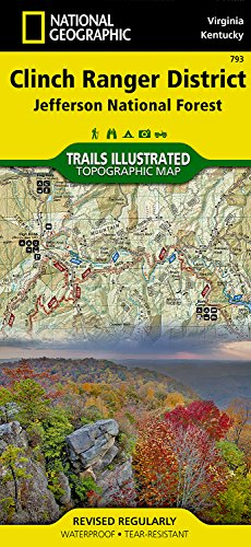 Jefferson National Forest Trails (Clinch Ranger District [Jefferson National Forest] (National Geographic Trails Illustrated Map))