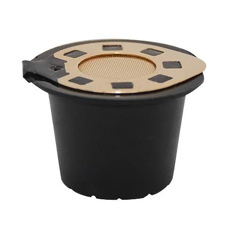 Liqiqi - Cápsulas de café Recargables Reutilizables para máquinas Nespresso Filtro Nespresso