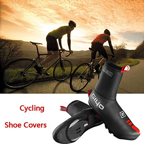 (Getadate Bike Bicycle Shoe Covers-Cycling Shoe Covers Road Bike Shoes Toe Cover Zippered MTB Winter Cycling Shoes Covers Outdoor Sports Windproof Warmer Overshoes Booties Covers for Men Women )