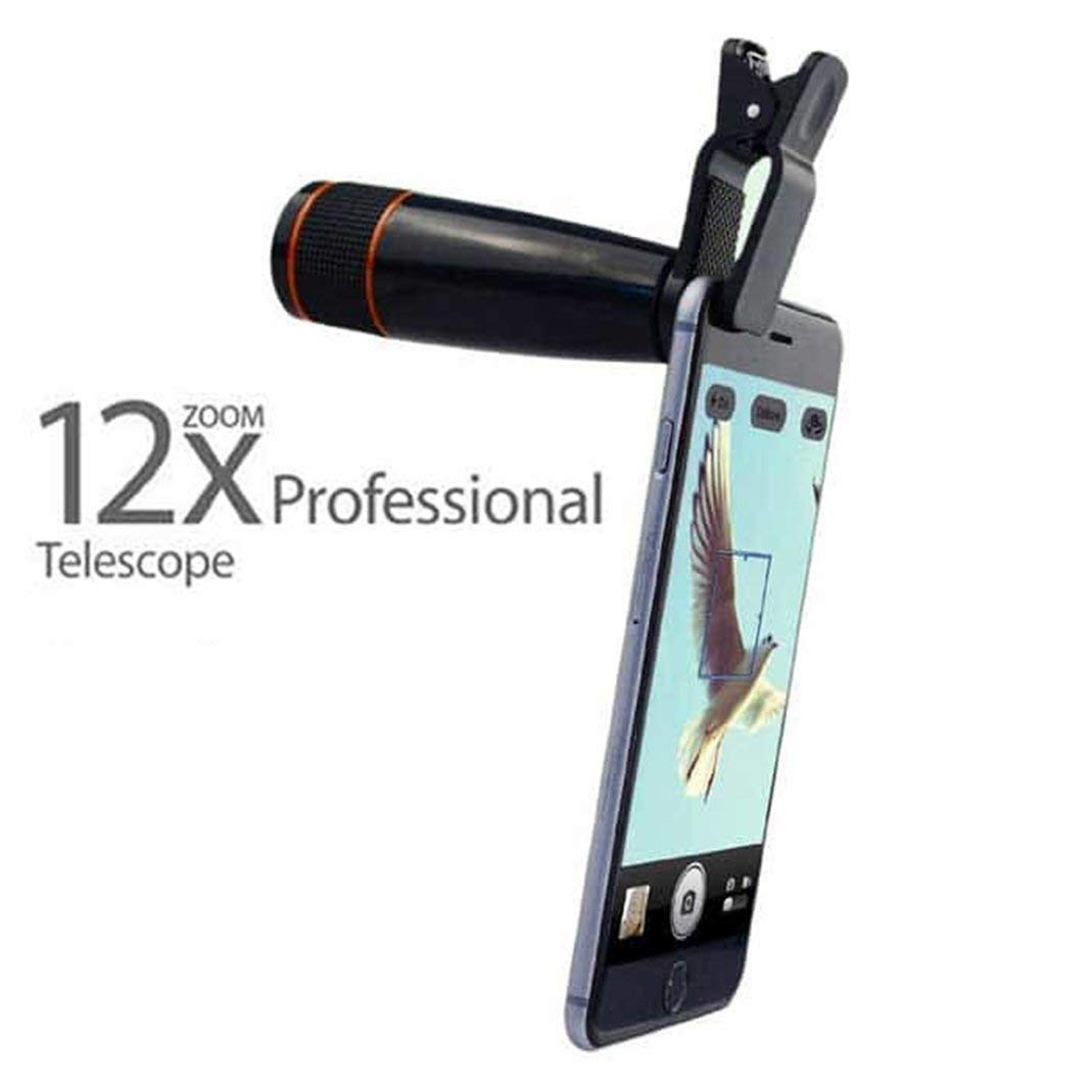 SYL Mobile Telescope Lens kit for All Mobile Camera | DSLR Blur Background  Effect [ Android & iOS Devices ] (12X Telescope)