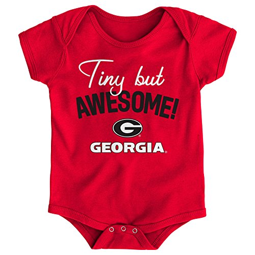 NCAA Georgia Bulldogs Newborn & Infant Awesome Script Bodysuit, 18 Months, Red