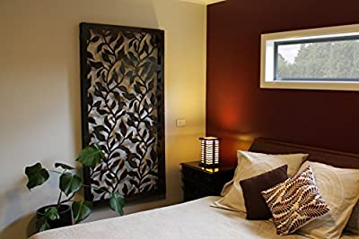 "Natural Screens by Be Metal Be ""Vine"" Laser Cut Decorative Steel Screen / Panel"