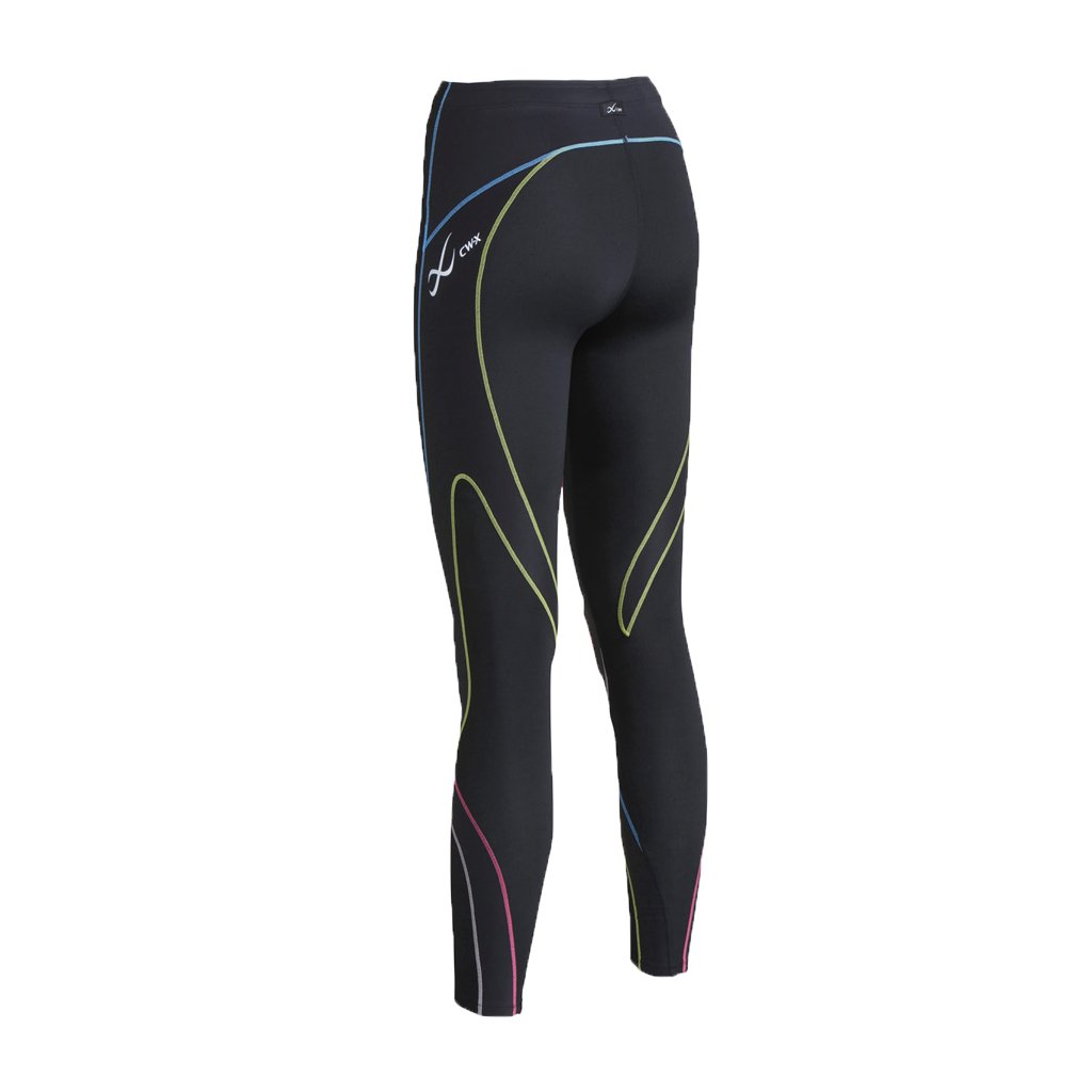 CW-X Women's Stabilyx Joint Support Compression Tight, Black/Rustic Rainbow, X-Small by CW-X (Image #2)