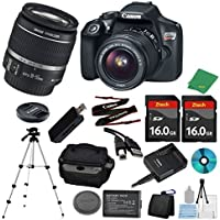 Canon EOS Rebel T6 DSLR with 18-55mm IS + 2pcs 16GB Memory Card + Camera Case + Memory Card Reader + Tripod + 6pc ZeeTech Starter Set - International Version