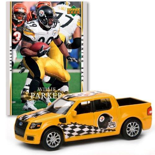 Pittsburgh Steelers - Willie Parker 2007 Upper Deck Collectibles NFL Ford SVT Adrenalin Concept with Card