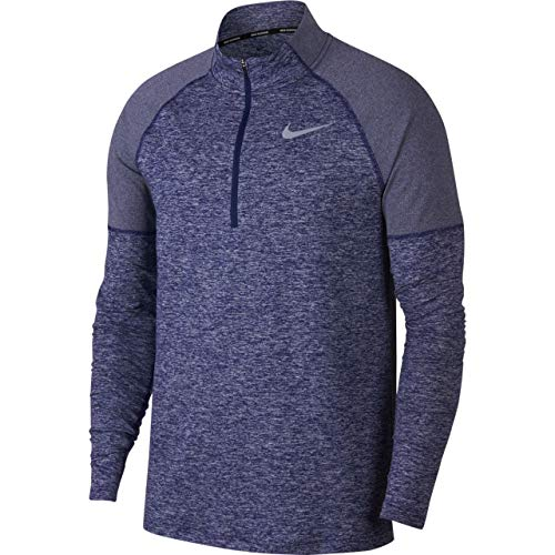 NIKE Men's Element Half Zip Top (Large, Obsidian)