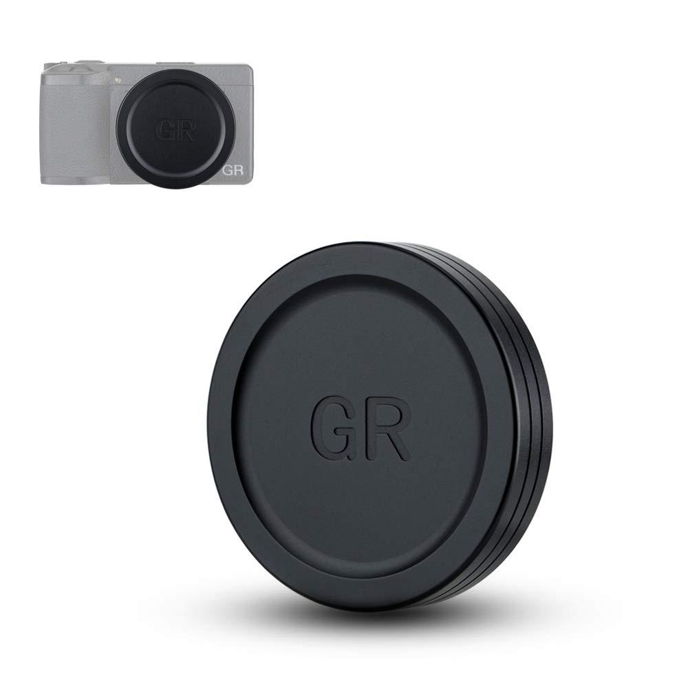 JJC Lens Cap Cover Protector for Ricoh GR III GRIII & GR II GRII Made of Aluminum Alloy & Soft EVA Interior -Black by JJC