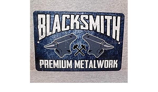 Mrt43Hutt Cartel de Metal Blacksmith de Hierro Forjado forja ...