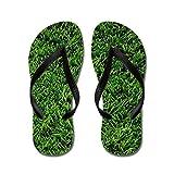 Difflamply Artificial Grass - Flip Flops, Funny Thong Sandals, Beach Sandals