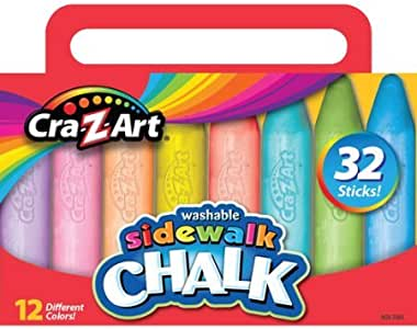 amazon com cra z art washable sidewalk chalk 32 count