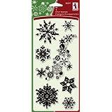 Inkadinkado I98397 Stamps 7-Piece Snowflakes A-Plenty Clear Stamp
