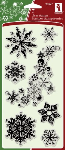 Inkadinkado 7-Piece Snowflakes A-Plenty Clear Stamp -