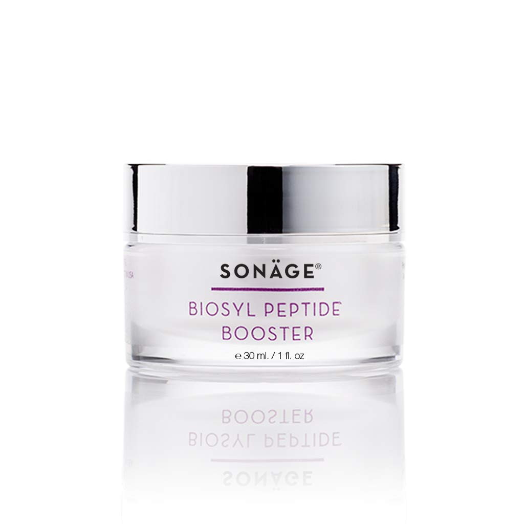 Sonage Biosyl Peptide Booster - Anti-Aging Cream & Daily Moisturizer for Face with Peptides, Hyaluronic Acid - Anti-Aging Formula To Reduce the Look of Fine Lines and Wrinkles, 30 ml