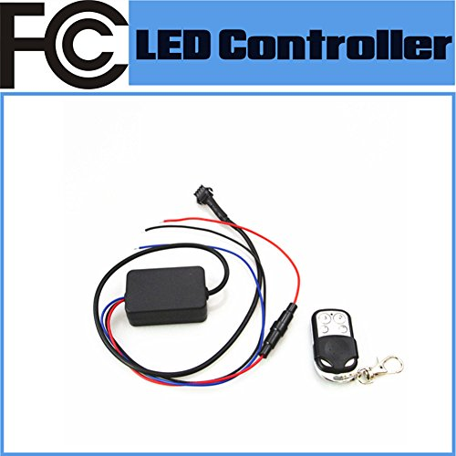 FCC Certified Universal RGB 18 Colors RF Multi-function LED Remote Controller for Motorcycle Auto Brake&Turn LED Lighting System 50W