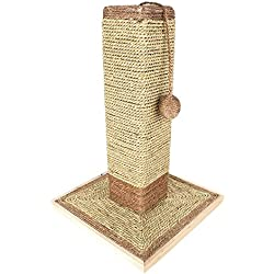 "19"" Natural Sisal Cat Scratching Post with Ball Toy by Weebo Pets"