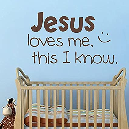Amazon.com: Wall Decal Decor Jesus Loves Me Vinyl Decal Children\'s ...