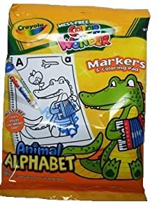 Crayola Mess Free Color Wonder Markers And Coloring Pad, ANIMAL ALPHABET