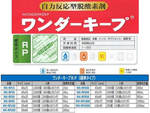 脱酸素剤【ワンダーキープWK-RP15】 標準タイプ|1ケース12000個(400個x30袋)|サイズ40x25mm B06XBNX539