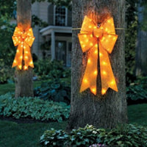 Outdoor Lighted Bows - 6