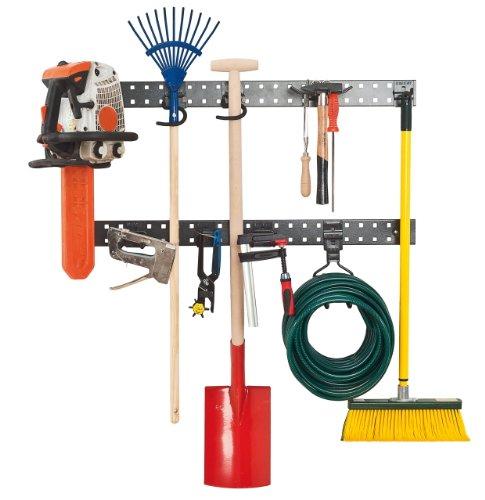 Werkzeug Wandhalterung 183cm Gesamtlänge, Aufbewahrungsleiste, Ordnungssystem, Ordnungsschiene, Wandbefestigung, Werkzeughalter für Werkzeug und Geräte, Aufbewahrungsset