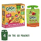 GoGo squeeZ Fruit & VeggieZ on the Go, Apple Peach Sweet Potato, 3.2 Ounce (4 Pouches), Gluten Free, Vegan Friendly, Healthy Snacks, Unsweetened, Reusable, BPA Free Pouches