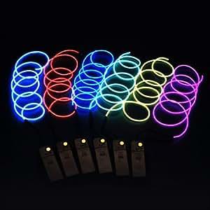 Amazon.com: massmall Free Bent 15ft(5M)Indoor String lights, Neon Light El Wire ...