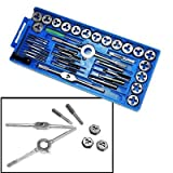 Metric Tap and Die | 40pc Set Tapping Threading Chasing Storage Case
