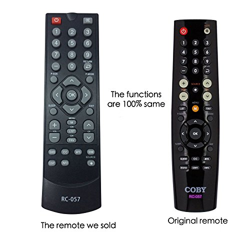 Smartby Replaced COBY RC-057 RC057 Remote Control for COBY TFTV1925 TFTV2225 EDTV1935 TFTV1925 TFTV2225 TFTV2425 TFTV4028 LEDTV3226 LEDTV5536 TFTV3229 LEDTV1935 TFTV1925 TFTV2225 TFTV2425 TFTV4028