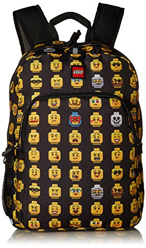 - LEGO Kids Minifigure Heritage Classic Backpack, Black, One Size