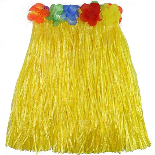 Qmsellz - Girls Dress Up - 2019 9 Colors Plastic Fibers Kid Grass Skirts Hula Skirt Hawaiian Costumes 40cm Girl Dress Up - Magnet Puzzle Clothes Accessories Little Boys Occupation Goose Women Coat Glo