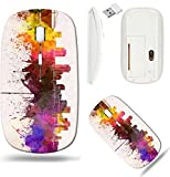 Liili Wireless Mouse White Base Travel 2.4G Wireless Mice with USB Receiver, Click with 1000 DPI for notebook, pc, laptop, computer, mac book ID: 28269342 New Orleans skyline in watercolor background