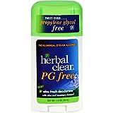Herbal Clear Deodorant Stick - Aloe Fresh - Pg Free - 1.8 oz (Pack of 2)