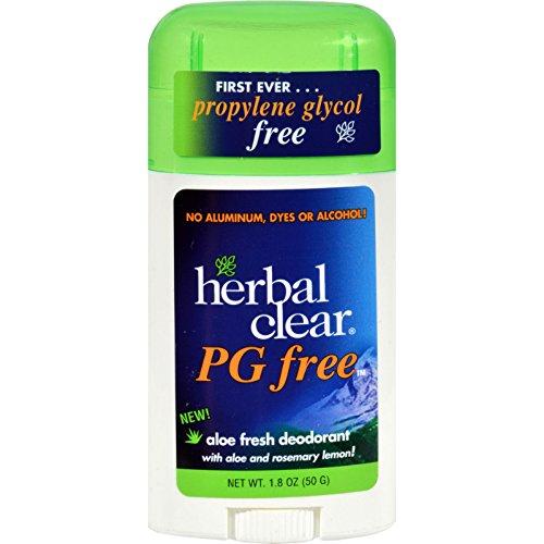 Herbal Shampoo Aqua - Herbal Clear Deodorant Stick - Aloe Fresh - Pg Free - 1.8 oz -