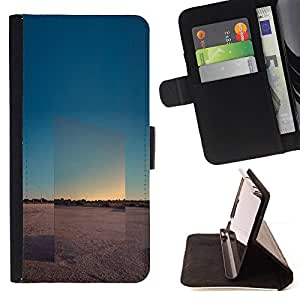 For Samsung Galaxy J1 J100,S-type Voir Horizon Paysage Désert - Dibujo PU billetera de cuero Funda Case Caso de la piel de la bolsa protectora