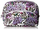 Vera Bradley Iconic Large Cosmetic, Signature Cotton, Lavender Meadow