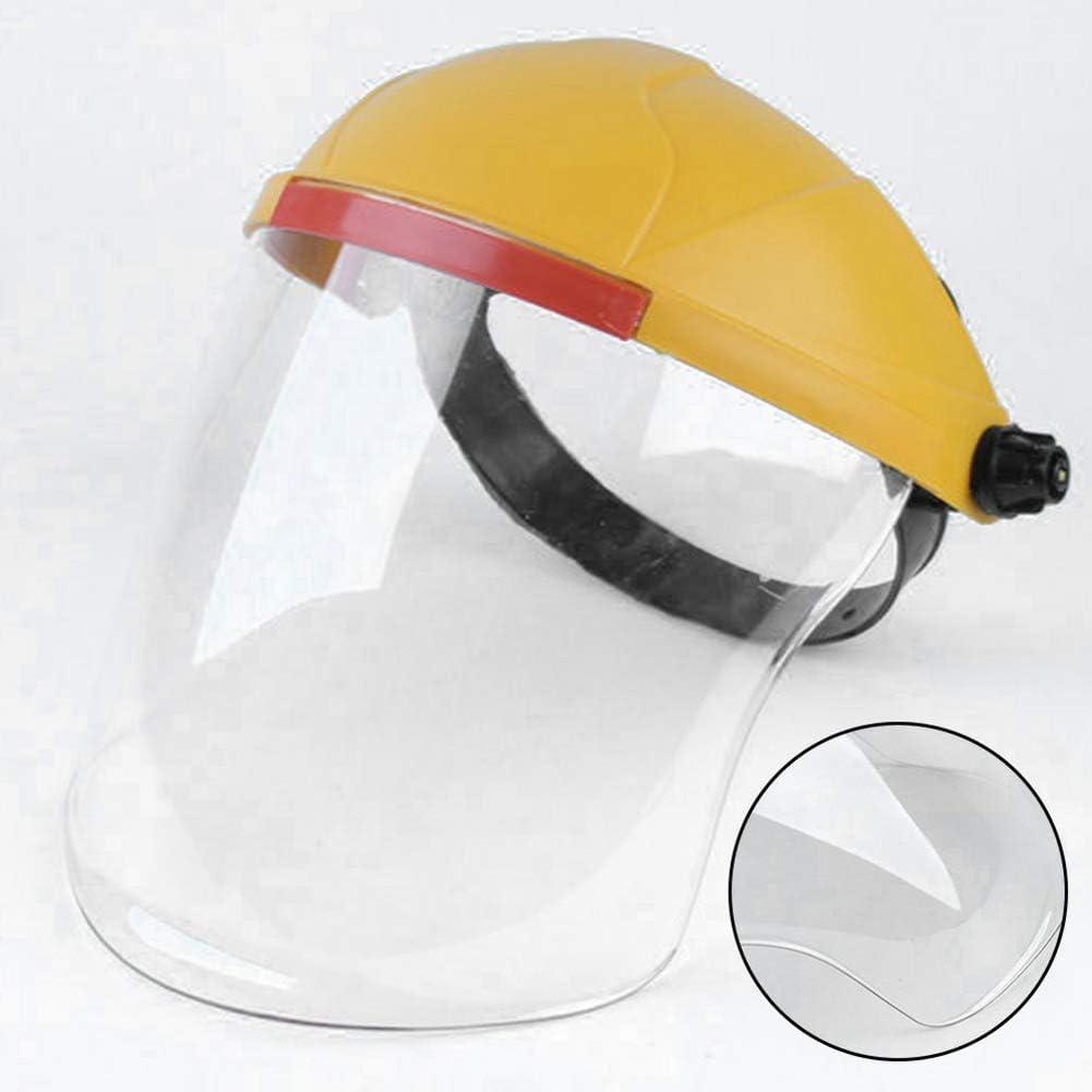 FairySu Woqook Protector Facial de Seguridad con Visera Transparente Casco de Soldadura de protección Ajustable