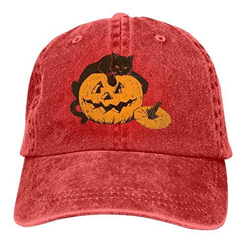 ADBOSS Cat On Pumpkin Halloween Unisex Vintage Adjustable