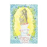 Celebration|Valentine'S Day Flag Happiness Is Marrying Your Best Friend Outdoors Flags Of Double Sided Waterproof And Fade Resistant Printed banners 12.5 X 18 Inch 100% Polyester