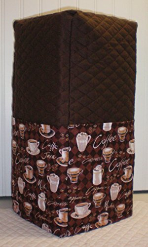 Quilted Coffee Cups Blender Cover (Regular, Chocolate Brown)