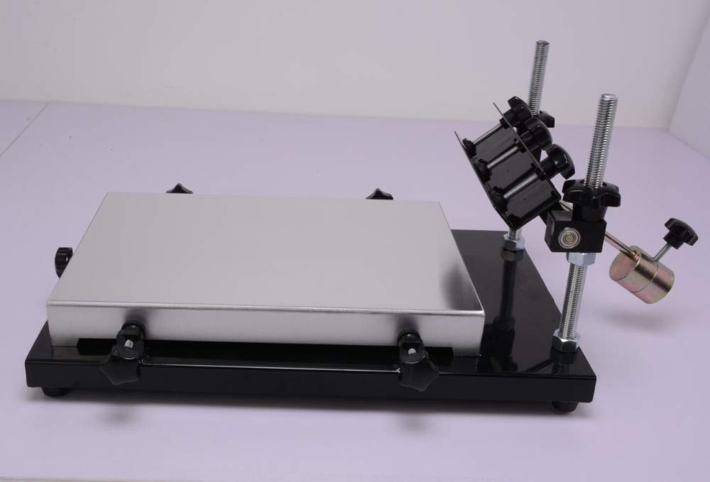 Hanchen PCB Stencil Printer, 32x44cm Silk Screen Solder Paste Printer for  SMT Production PCB Solder Paste Screen Printing Machine CE
