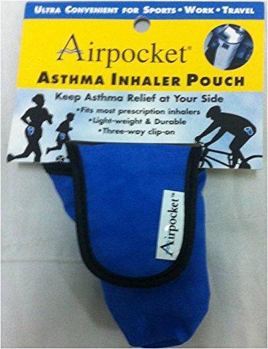 Airpocket® asma inhalador bolsa (azul)