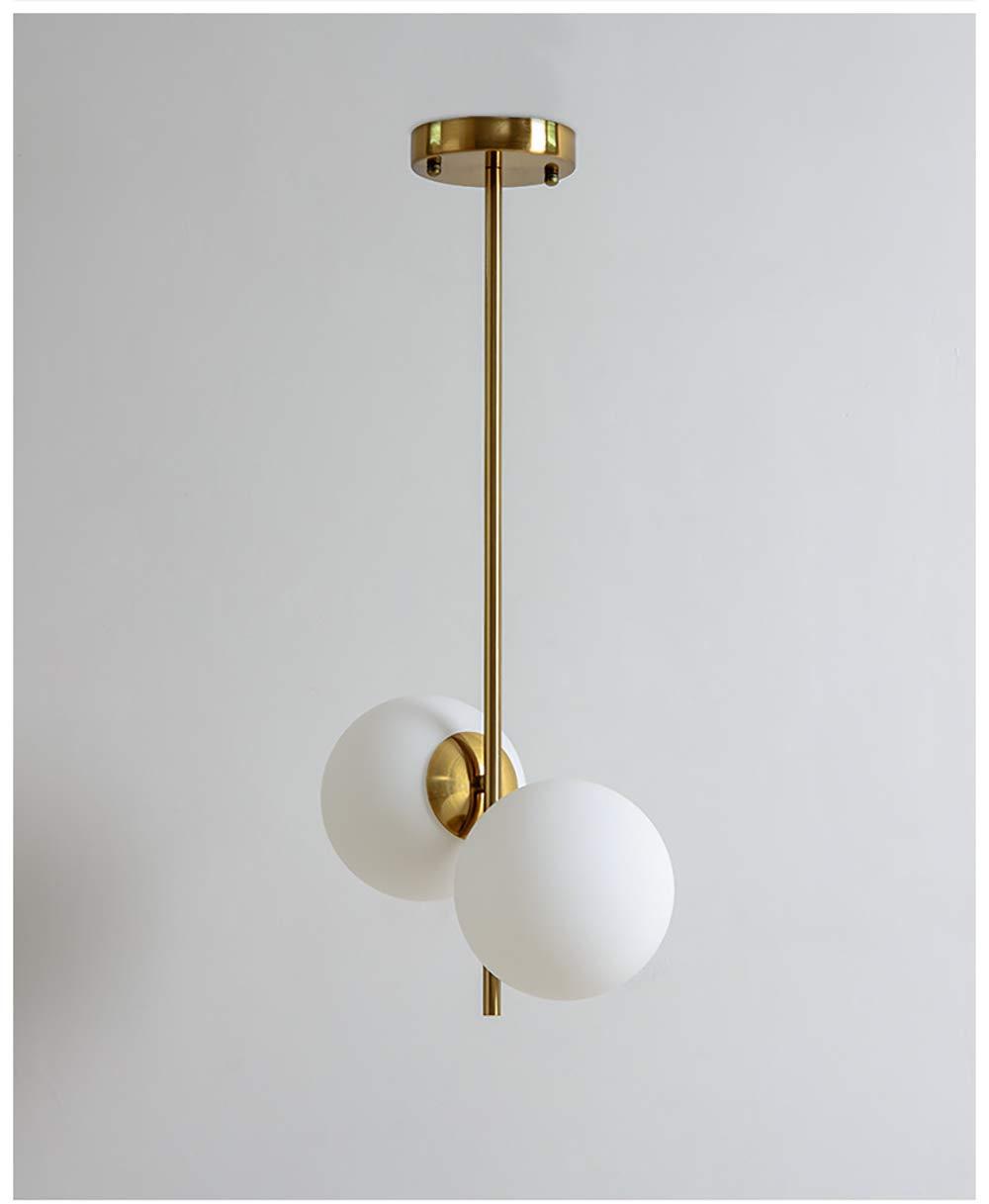 SXMY Bola de Cristal n/órdica Ara/ña Redonda L/ámpara Colgante LED Accesorio de iluminaci/ón Interior Luces Decorativas para la Sala de Estar dormitorio-gold-1head