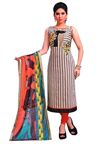 Manmandir Chanderi Silk Fabric Readymade Salwar Kameez with Printed Dupatta (Printed Kameez)