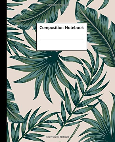 Composition Notebook Tropical Floral Jungle Palm Leaves Wide Ruled Blank Journal And Notebook For Students Teens Kids Adorable Exotic Wide Lined For School College For Writing And Notes Notebooks Shop tropical leaves notebooks created by independent artists from around the globe. tropical floral jungle palm leaves wide