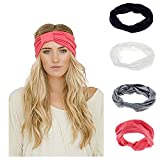 Ever Fairy Women Elastic Turban Head Wrap Headband Twisted Hair Band (4 Color Pack G) Reviews