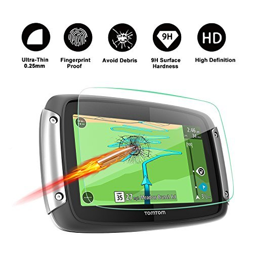 Special for TomTom Rider 40 410 400 4.3-Inch Display Navigation Screen Protector, R RUIYA HD Clear TEMPERED GLASS Screen Guard Shield Scratch-Resistant Ultra HD Extreme Clarity